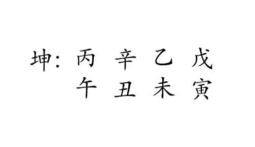 丙 午  辛 丑  乙 未  戊 寅